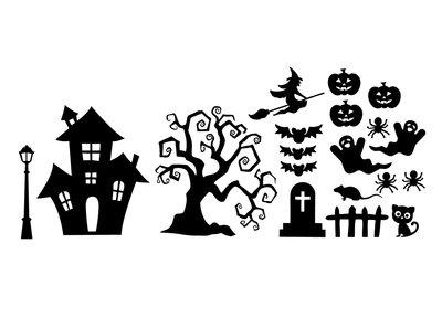 Uitbereidings set herbruikbare raamstickers halloween