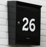 Huisnummer sticker ( kies zelf de kleur en lettertype)_