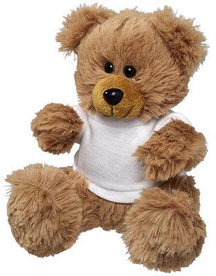 Zittende beer met t-shirtje