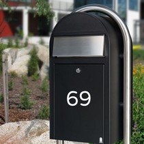 Huisnummer sticker ( kies zelf de kleur en lettertype)
