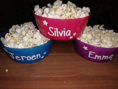 Tractatie schaaltje met popcorn