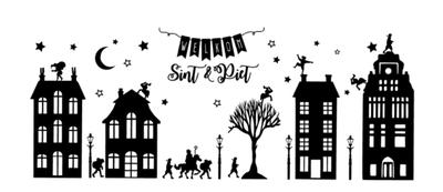 Statische raamstickers Sinterklaas #1
