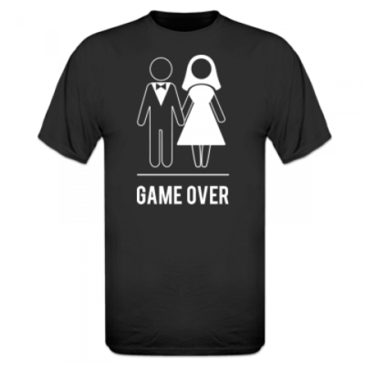 Shirt `Game Over Groom's End`