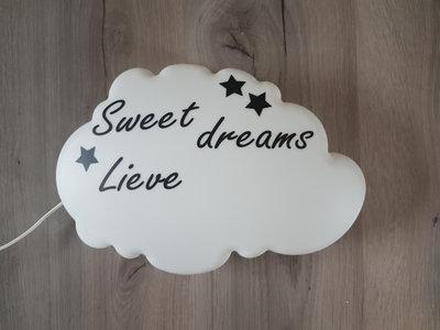 """Wandlampje """"Sweet Dreams Lieve.."""""""
