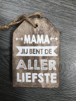 houten hanger mama
