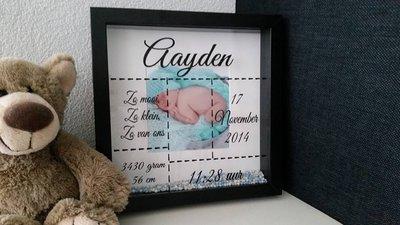 Geboortefotolijst 25 x 25 cm
