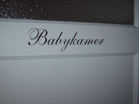 Babykamer sticker