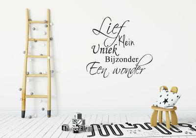 Muursticker Lief klein uniek