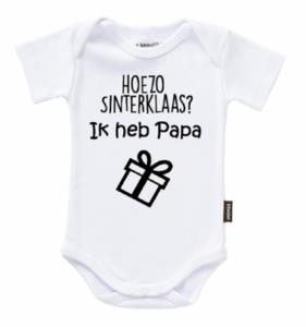 "Romper tekst ""Hoezo Sinterklaas ik heb papa"""