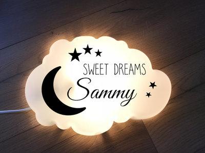 "Wandlampje ""Sweet Dreams met naam"""