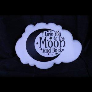 """Wandlampje """"I love you to the moon.."""""""