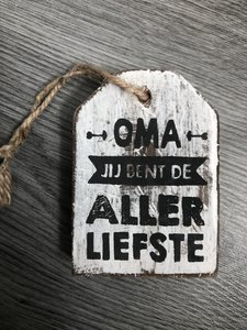 houten hanger oma